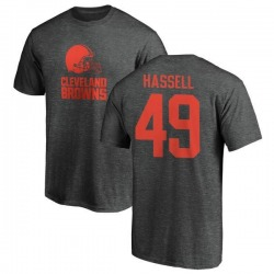 Men's J.T. Hassell Cleveland Browns One Color T-Shirt - Ash