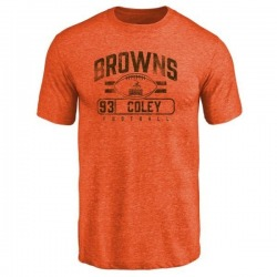 Men's Trevon Coley Cleveland Browns Flanker Tri-Blend T-Shirt - Orange