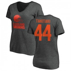Women's Sione Takitaki Cleveland Browns One Color T-Shirt - Ash