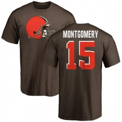 Youth D.J. Montgomery Cleveland Browns Name & Number Logo T-Shirt - Brown