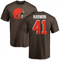 Youth Ja'Darion Harmon Cleveland Browns Name & Number Logo T-Shirt - Brown