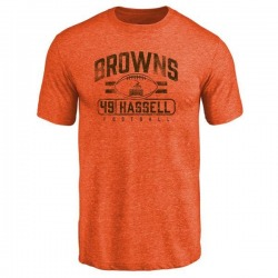 Youth J.T. Hassell Cleveland Browns Flanker Tri-Blend T-Shirt - Orange