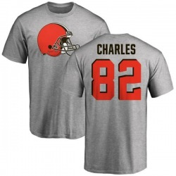 Youth Orson Charles Cleveland Browns Name & Number Logo T-Shirt - Ash
