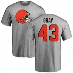 Youth Trayone Gray Cleveland Browns Name & Number Logo T-Shirt - Ash